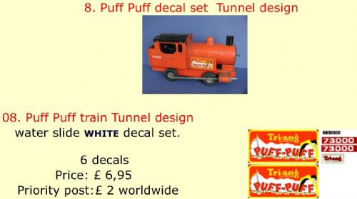08. Tri-ang Puff Puff decal set  Tunnel design